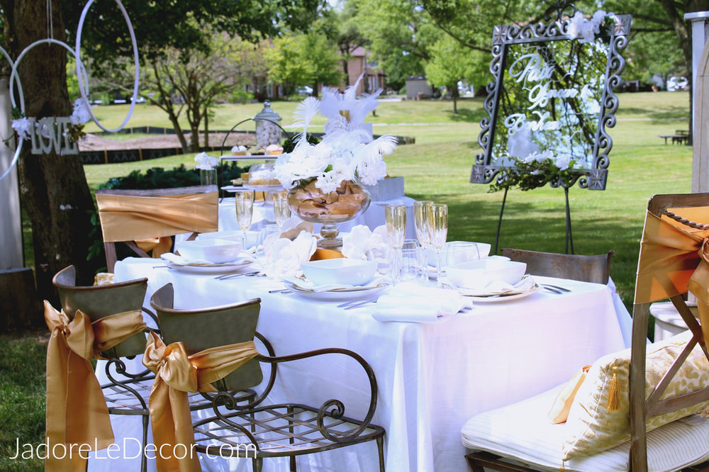 Wedding Week Gold And White Reception Inspiration Jadore Le Dcor