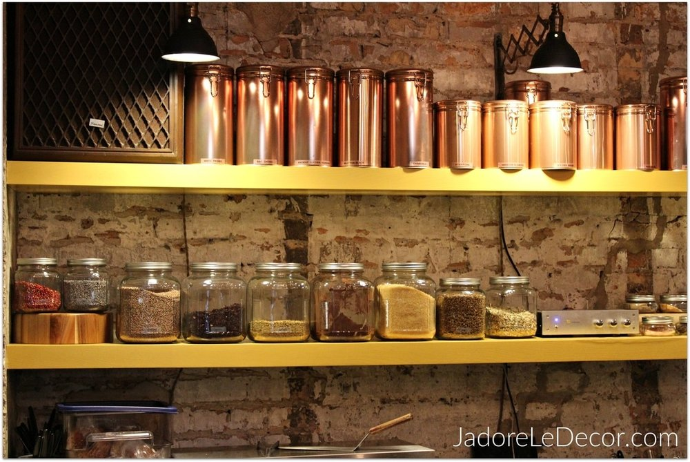 www.JadoreLeDecor.com | Follow me down a Chicago alley to discover a wonderful surprise housed in only 360 square feet of space.  | Small Cafes | Small Commercial Space