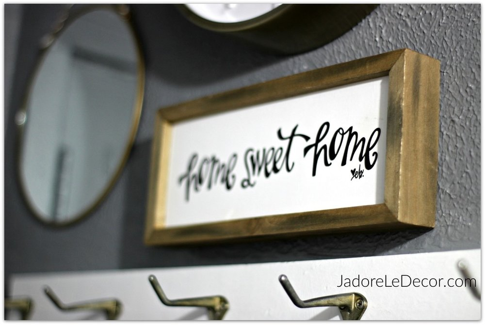 www.JadoreLeDecor.com | small foyer, no foyer organization project | Small Space Living | Whole House Organization Challenge