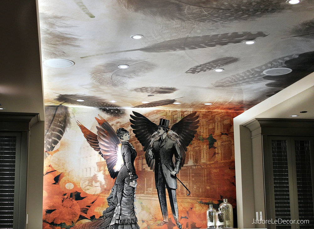 www.JadoreLeDecor.com | Explore unique ways to add a bit of interest to the 5th wall of your rooms.| Ceiling Decor