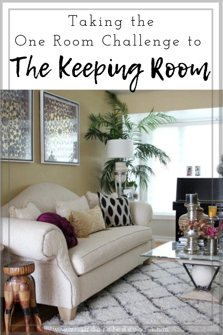 "www.JadoreleDecor.com | Taking the One Room Challenge to the ""Keeping Room"" Follow along as we complete a 6-week makeover of our living and dining rooms. This project will be the truest reflection of us."