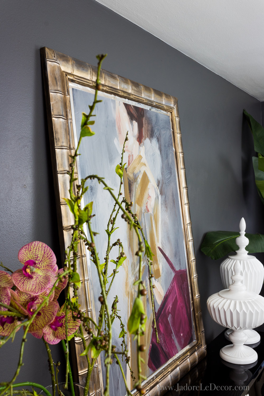 www.jadoreledecor.com | How to Upgrade Your Commercial Art the Easy Way | Before you toss that commercial art, try this $25 upgrade! | Easy DIY | Home Decor | DIY Art | Small Space Ideas #greatbigcanvas #diyart #jadoreledecor #smallspaceidea #apartmentlife