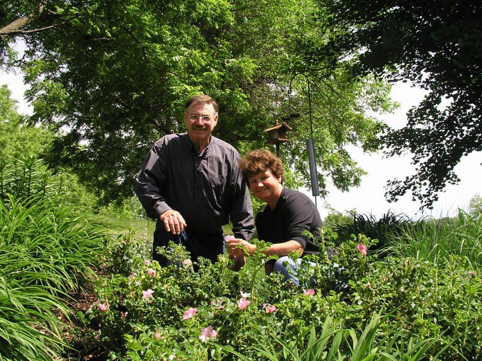 Shady Acres Herb Farm founders, Jim and Theresa Mieseler -