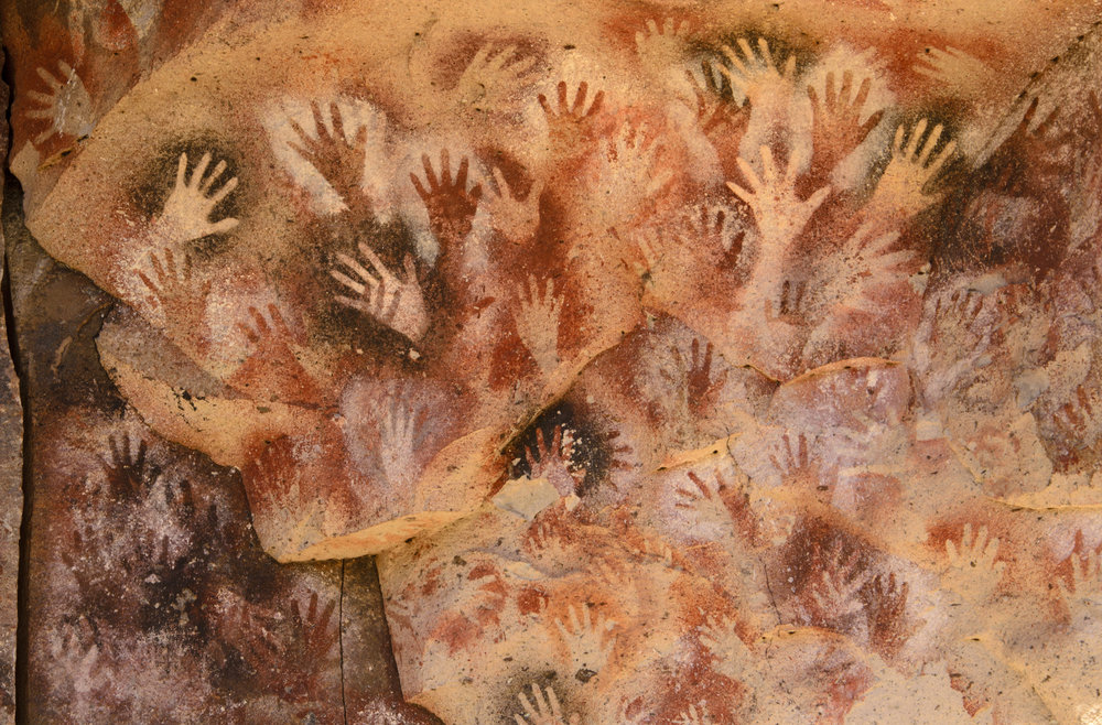 Ancient Cave Paintings in Patagonia — photo by Buenaventuramariano