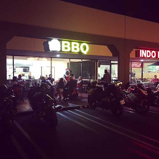 Bike Night at Fire Breather BBQ, all bikes welcome.