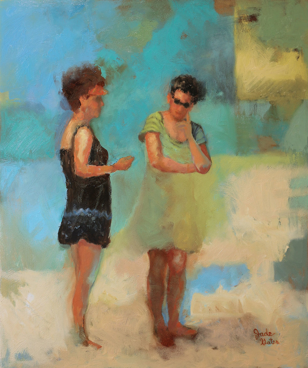 """""""Conversation on the Shore"""" 20 x 24"""