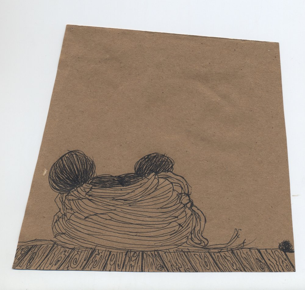 burrow  pen & ink on kraft paper 2011