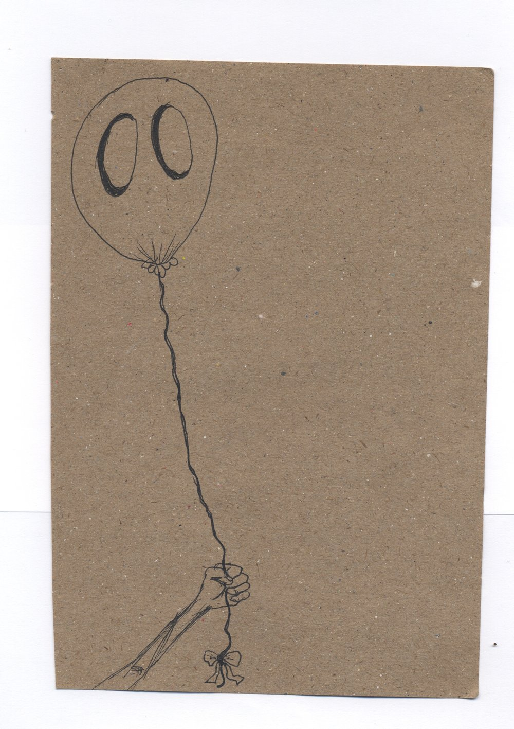 caught  pen & ink on kraft paper 2011
