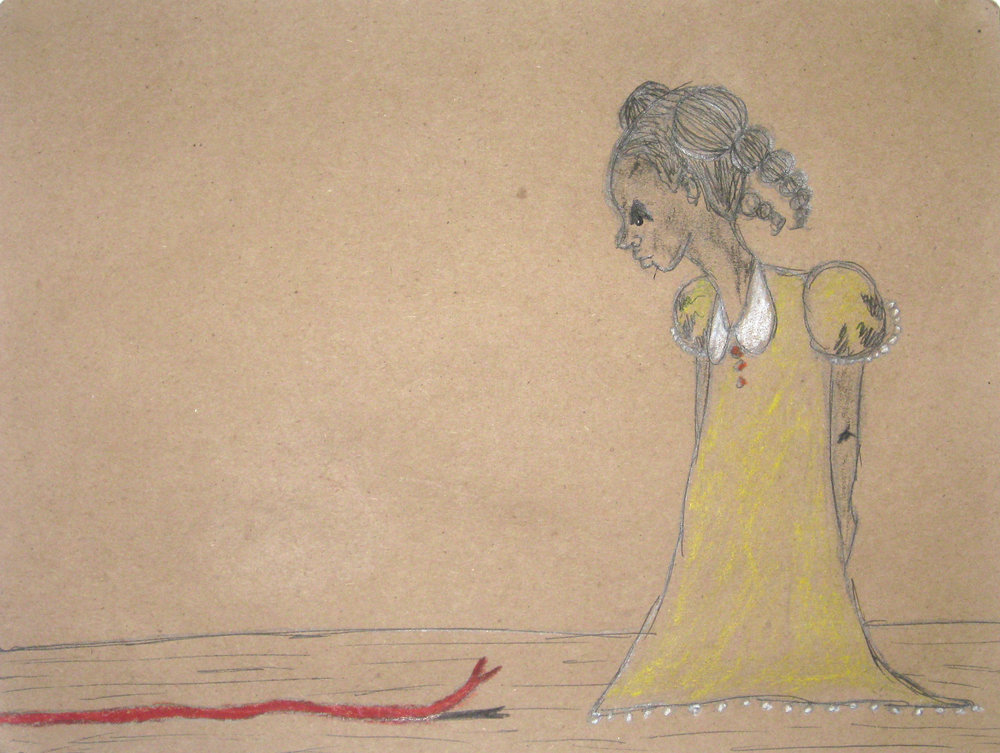 untitled  pen & ink on kraft paper 2011