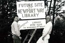 1966 - $6 million bond passes, with plans to build 18 permanent libraries in the next 10 years.