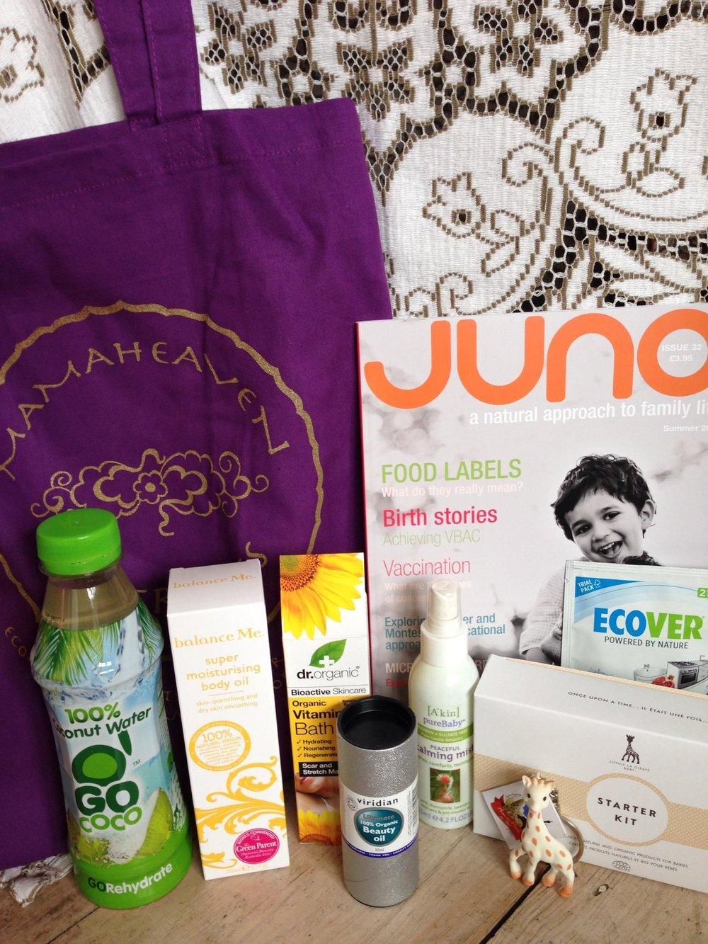 Mamaheaven goodie bag April 2014.jpg
