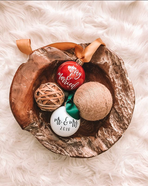 Custom Calligraphy Christmas Ornaments