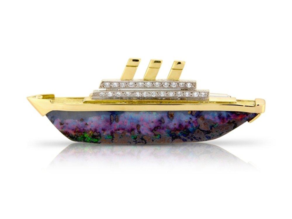 Ocean liner brooch