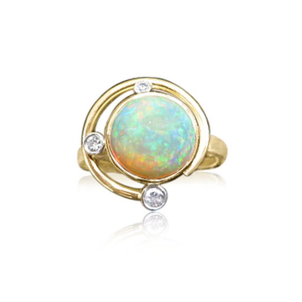 Welo opal and Diamond in 18ct yellow and white gold ,this flew so fast we only had this picture wow.