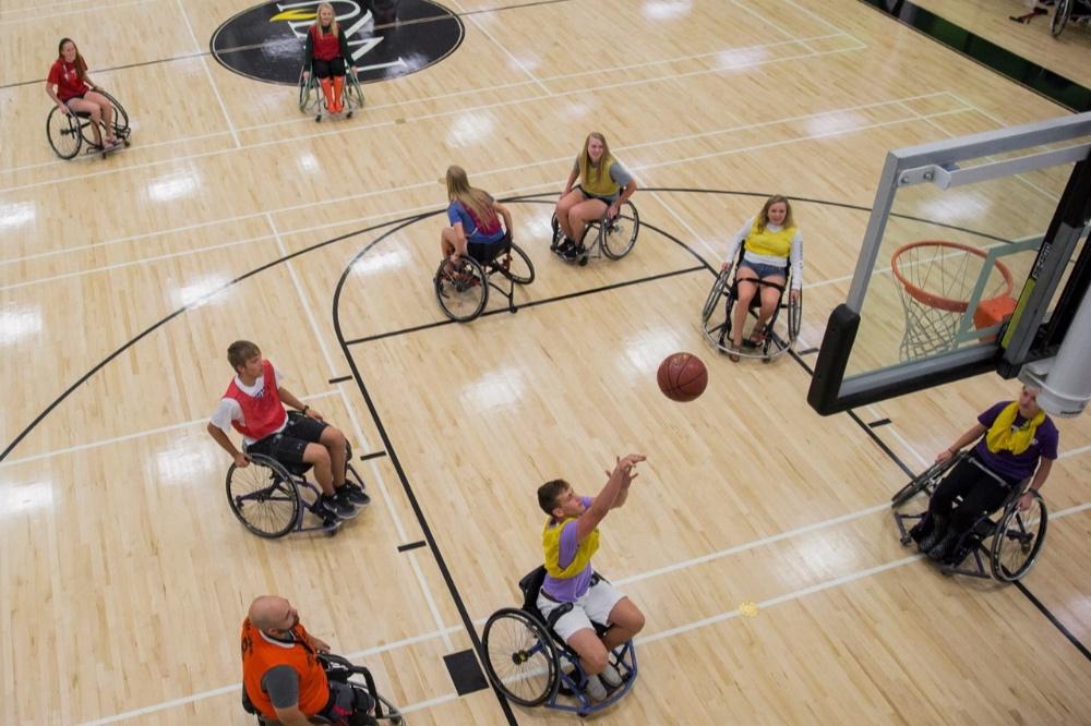 Jacob Counts with Wheelchair Basketball @ NKU