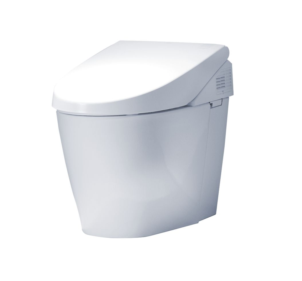 Neorest® 550H Dual Flush Toilet    An elegant skirted one-piece unit, this Neorest offers ecology-minded luxury, with our technologically advanced WASHLET, Tornado siphon jet flushing system, remote control, heated seat and CeFiONtect, an extraordinarily smooth, ion-barrier surface to help keep the bowl cleaner longer.