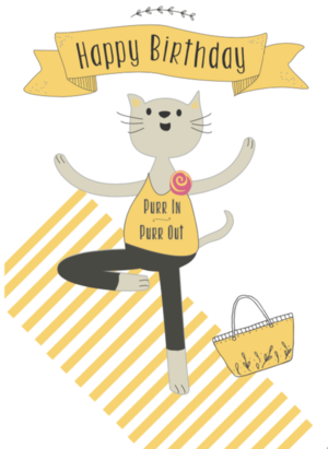 Yoga Cat In Yellow