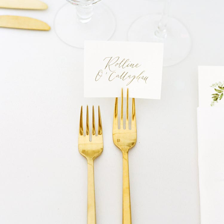 Seating Chart and Calligraphy Name Cards