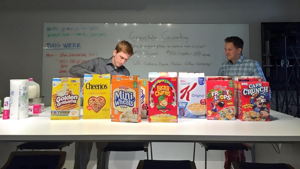 Pop-Up Cereal Bar
