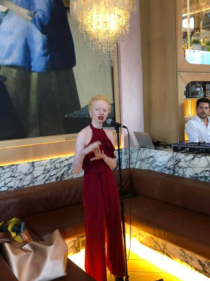 Political Activist, Model and BBC's Top 100 most influential women in the world, Thando Hopa.