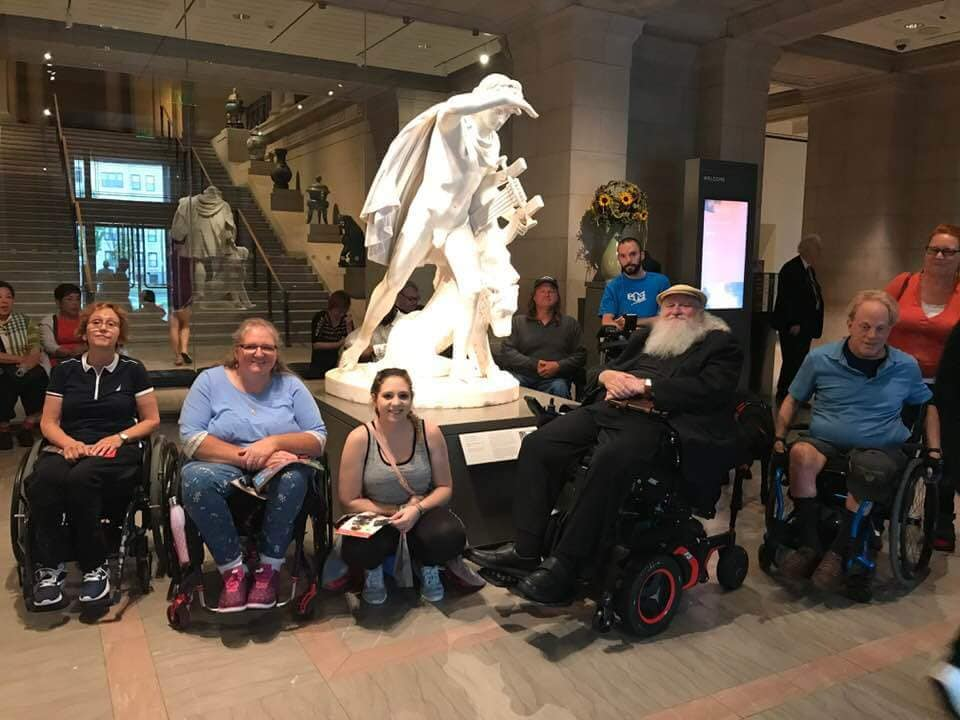 We took a tour of the Museum of Fine Arts guided by Joe Murphy, our resident art expert, painter, and peer mentor. Stay updated about our next MFA tour by subscribing to our newsletter at the bottom of this page and     click here   for other fun events.