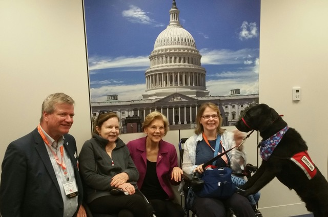 Pam and Ellen got speak with Elizabeth Warren at the Roll on Capitol Hill 2018