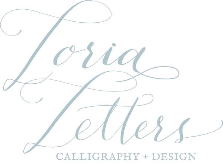 loria letters calligraphy design