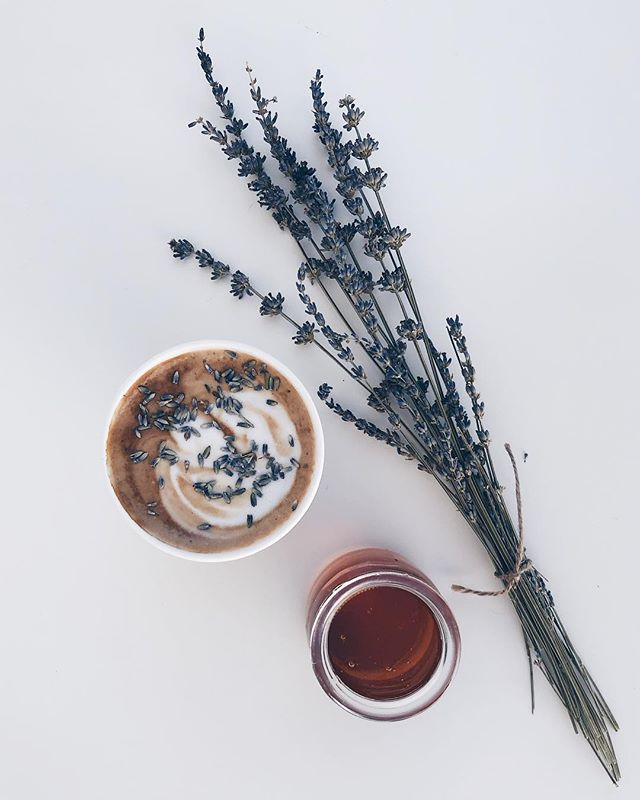 H O N E Y  L A V E N D E R is back! It was originally supposed to be a seasonal syrup but you all have missed it so much that we're making it one of our house syrups available all year 💕 Come on in and get a honey lavender latte today! . . . . #honeylavender #homemadesyrup #organic #cultivate #community #lattelove