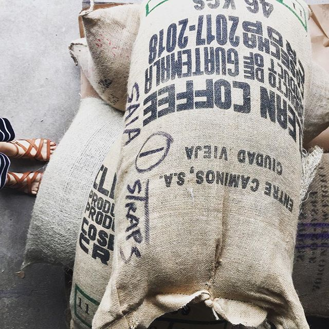 Another day, another shipment of coffee to roast for you, lovely people! #organicfairtradecoffee #rawcoffeebeans #coffeetogether #productodeguatemala #cafedelmundo