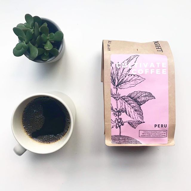 CULTIVATE AT HOME | May we introduce you to our Fair Trade Organic certified coffee from Peru. This is a light roast coffee with notes of Fuji apple, caramel, chocolate and almond! Try it while it lasts (20lbs or so left)! . . . #chocolatenotes #specialtycoffee #lightroast #elpaltocoffee #peruviancoffee #microcoffeeroastery #fvdowntown #fuquayvarina