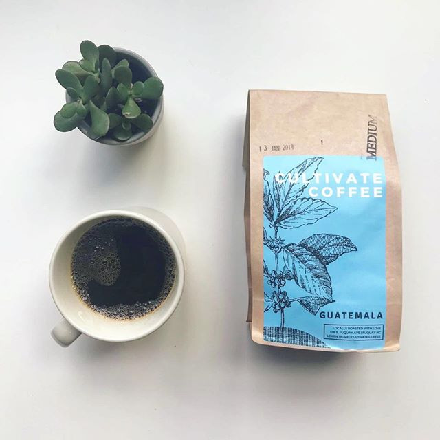 CULTIVATE AT HOME | This smooth medium roast is brought to you from the mountains of Guatemala. The cultivation of this coffee involves 49 women, and 164 families mainly of the Mayan ethnicity.. and the region is located between the Caribbean Sea and two mountains which makes for a unique climate and a unique flavor profile of chocolate, toffee, almond and raisin. Grab a freshly roasted bag at our shop or shop online at cultivate.coffee and we'll send you some! . . . #mayancoffee #guatemalancoffee #gourmetcoffee #organiccoffee #specialtycoffee #thirdwavecoffee #womenincoffee #iwca #thenewquay #fuquayvarina #fvdowntown