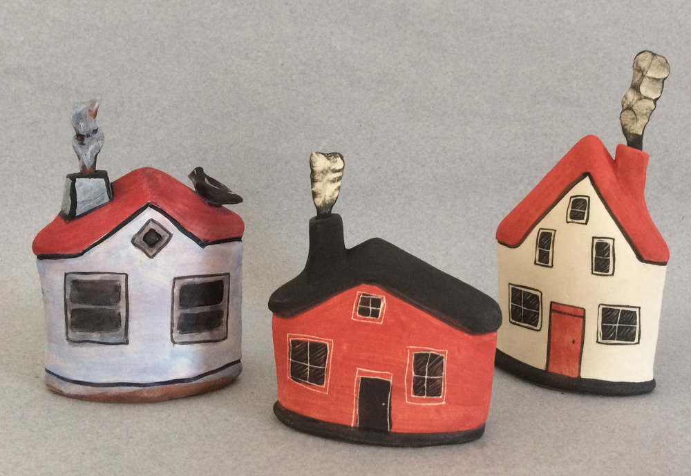 Anita Rocamora red house bottle (middle) — Hand Wave Gallery 4230cf8d37