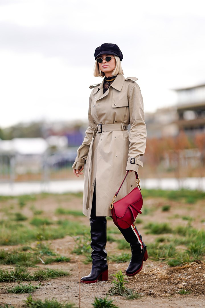 A beige coat never goes out of style - the perfect jacket to layer when the weather gets gloomy.