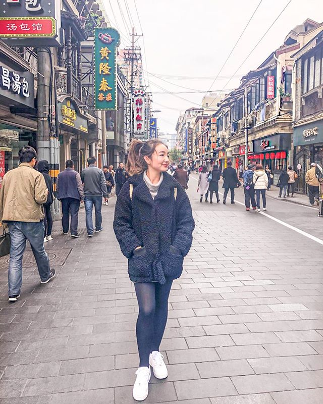 Probably staring at another food stall 🥮🍜🥟 Definitely one of my fave things about China is being spoilt for choice on all the food they have 😍