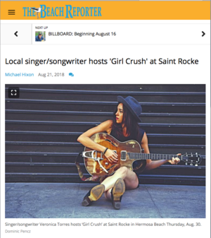 The Beach Reporter: - Local singer/songwriter hosts 'Girl Crush'