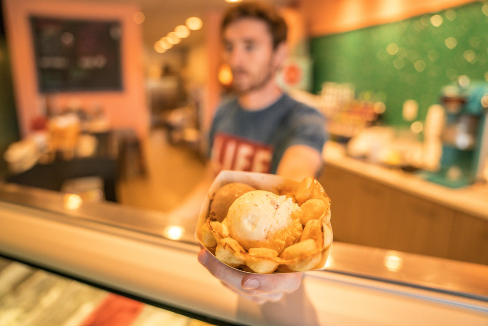 BEST GELATO IN UTAH - TRY IT SERVED IN A BUBBLE WAFFLE