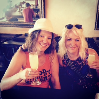 Selby and me enjoying a Sunday Mimosa in New Orleans