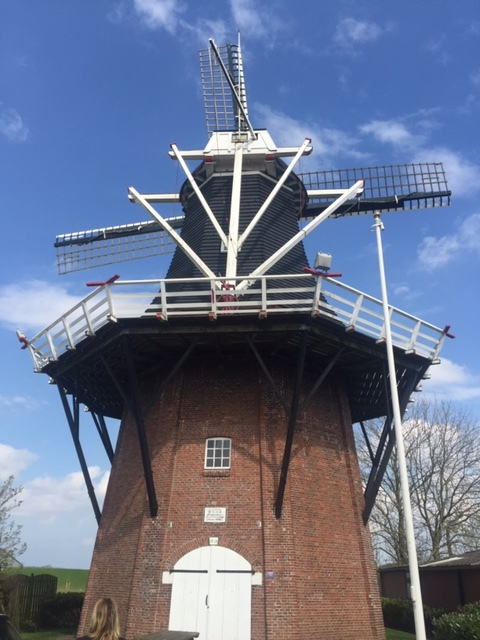 Windmill in Vierhuizen, Netherlands