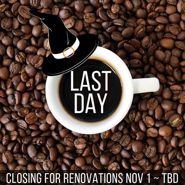 Tomorrow (November 1) we will close our doors for a few weeks of renovations, so today is your last chance to come in for some delicious TREATS at The Coop for a while!! Wishing all a safe, fun, and #HappyHalloween!! . . . . . #thecoopbayridge #bayridge #bayridgebrooklyn #brooklynnyc #coffeelover #coffeeaddict #butfirstcoffee #closedforrenovations #closingsoon #brooklyneats #bkeats #brooklynrestauran t#brooklynrestaurants #dykerheights #bensonhurst #forthamilton #statenisland #nyceats #instacoffee #coffeebeans #coffeeart #trickortreat