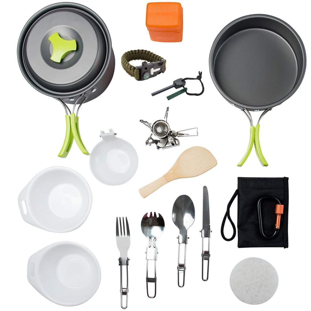 MalloMe Camping Cookware Mess KitMalloMe Camping Cookware Mess Kit