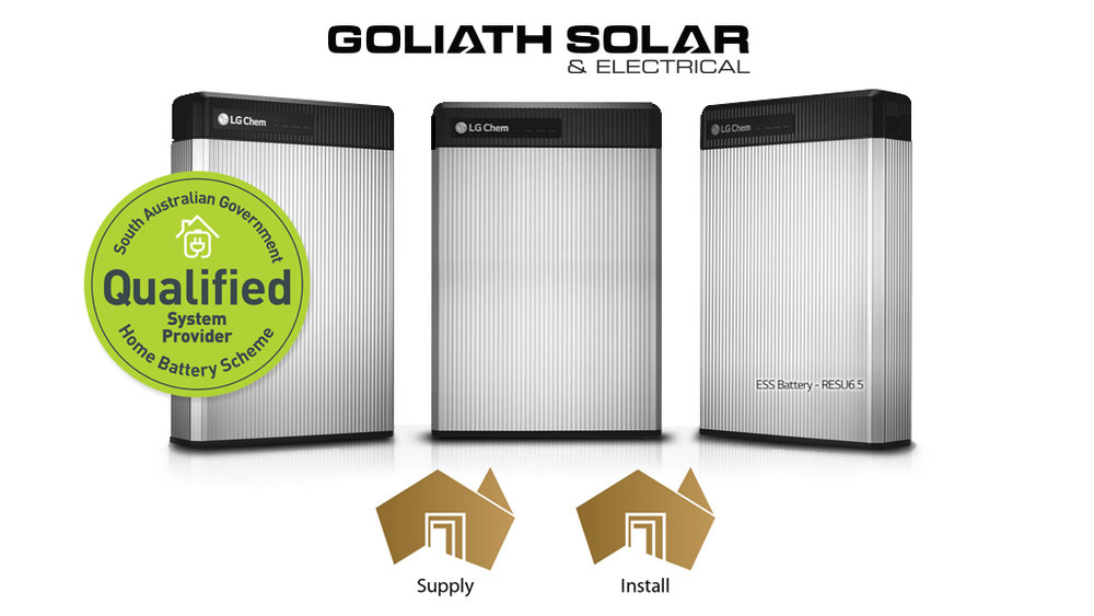 Goliath Solar & Electrical are proud to be a    provider in the South Australian home battery scheme   . Stay in tune with our upcoming product announcements view our    Home Battery Scheme    offering.