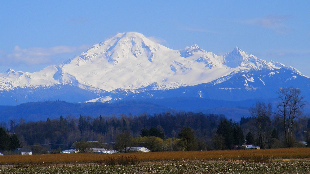 Mt. Baker in the background of Abbotsford, BC, Canada