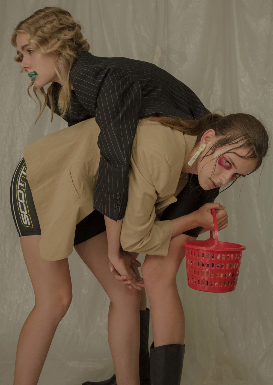Photography  Ria Mort  Styling  Elizabeth Karatsoki  Models  Natalie Horton  and  Amanda Saburova  Makeup Artist  Christos Mazùrek