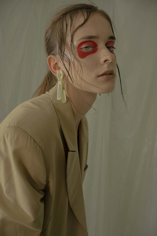 Photography  Ria Mort  Styling  Elizabeth Karatsoki  Model  Amanda Saburova  Makeup Artist  Christos Mazùrek