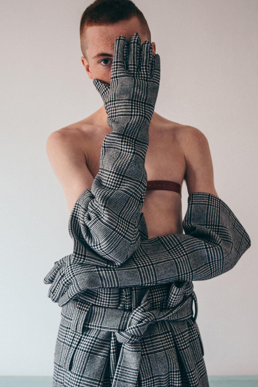 Photography by   Antonio Eugenio     Fashion by     Riccardo Maria Chiacchio     Clothes by   Abzal Issabekov     Talent     Sam Robertz