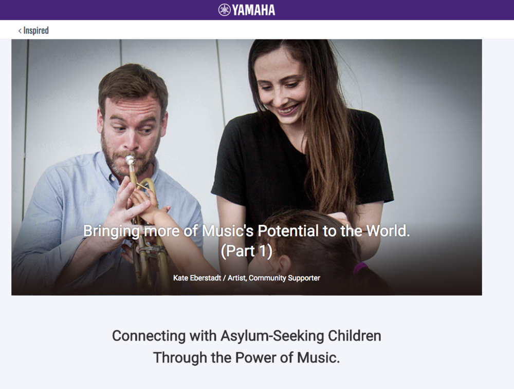 """Connecting with Asylum-Seeking Children Through the Power of Music.""    YAMAHA, ""Inspired"" series"