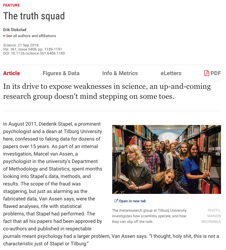 The Truth Squad - Science Magazine Screenshot