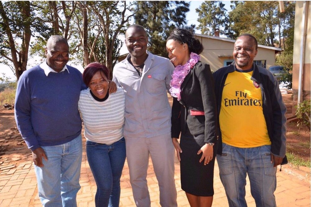 Our Swazi team: Ray, Thembi, Sibusiso, Precious and Makhundu