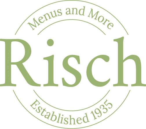 Risch Custom Imprinted  Menu Covers,  &  Restaurant Equipment