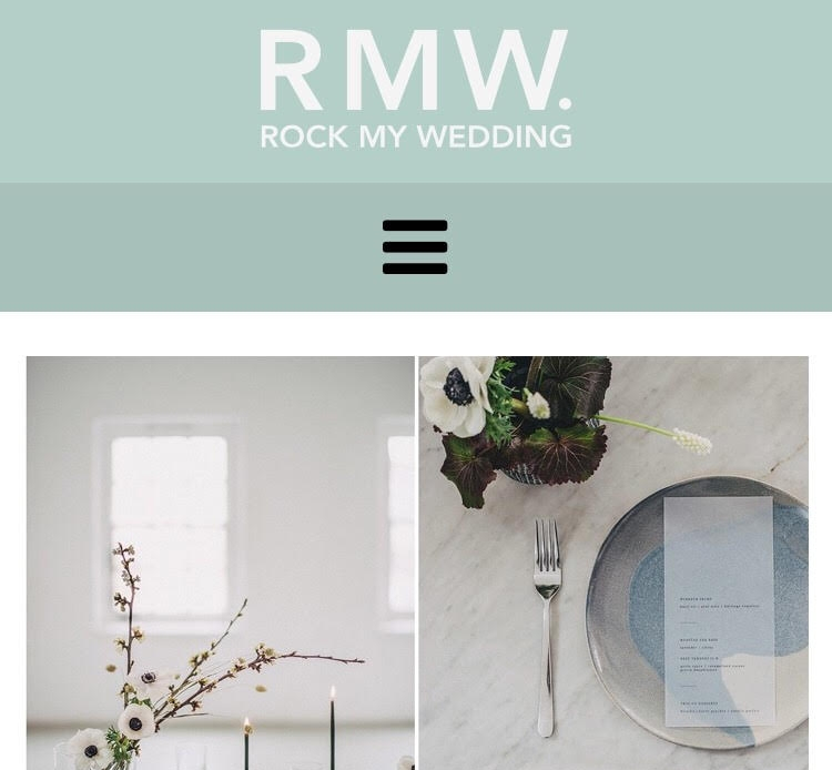 Rock My Wedding blog - June 2018